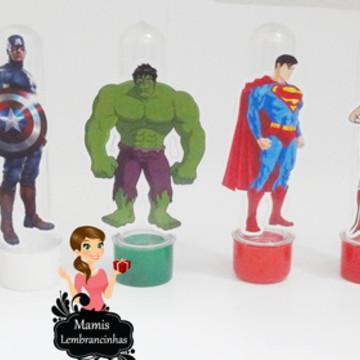 Tubetes Personalizados Super Heróis