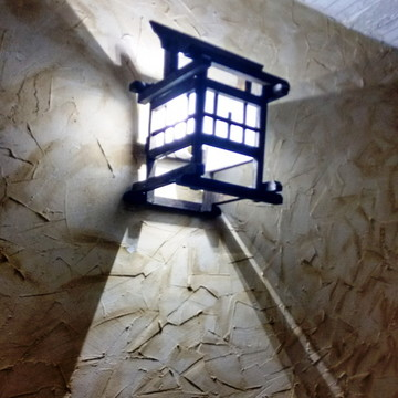 Arandela de parede luminaria oriental