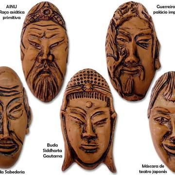 Máscaras Decorativas Orientais em resina