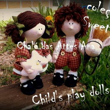 Molde Casal child's play dolls