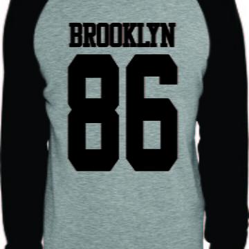 a6cf215ccc Camiseta Brooklyn 86 Raglan Manga Longa