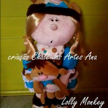 Molde Boneca Lolly Monkey