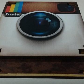 Máquina Fotográfica - Caixa MDF
