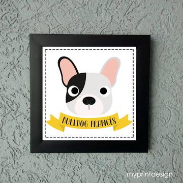 Quadrinho Decorativo Bulldog Francês