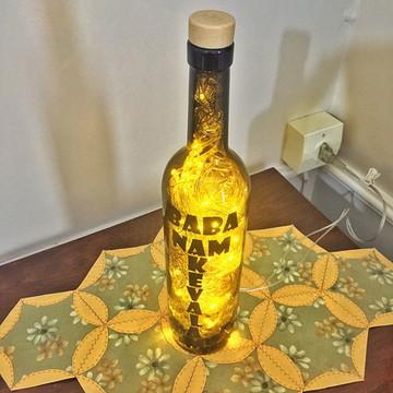 Luminária de garrafa Decorada / Mantra