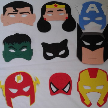 Lembrancinha mascara super herois