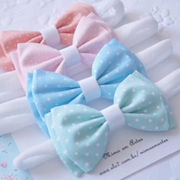 Laços de cabelo tecido Poás Baby - Faixa meia de seda