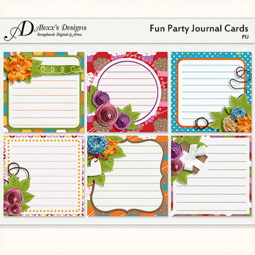 Kit Digital Fun Party Journal Cards (1)