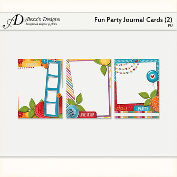 Kit Digital Fun Party Journal Cards (2)