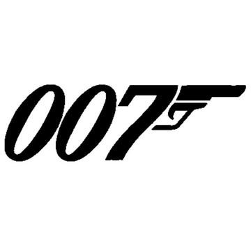 Adesivo 007 bond carro Moto