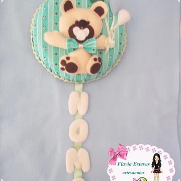 enfeite de porta ursinho baby