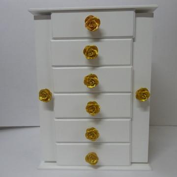 Móvel porta jóias de mesa