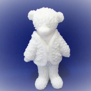 Urso 3d com casaco