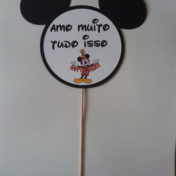 Placa para foto Mickey e Minnie