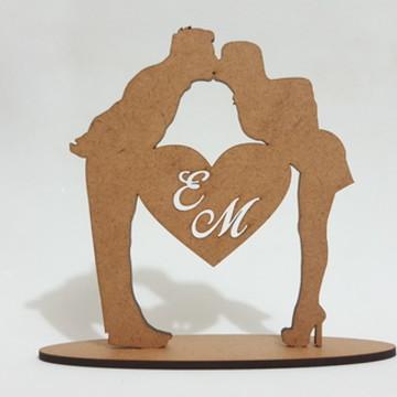 Topo de bolo Noivado ou Casamento