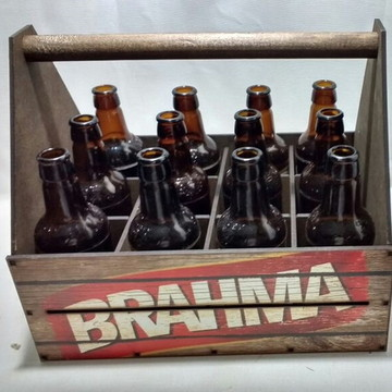 Caixote Porta 12 Garrafas Cerveja MDF