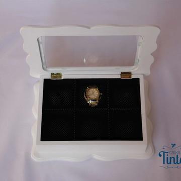 Caixa Porta Relógios Branca