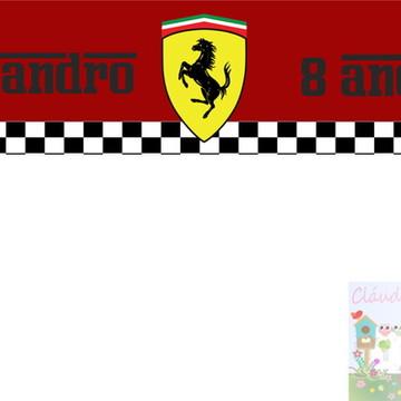 Adesivo água mineral Ferrari