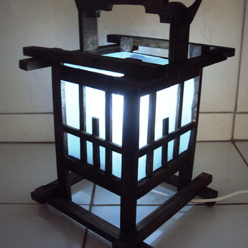 abajur de mesa estilo oriental luminaria
