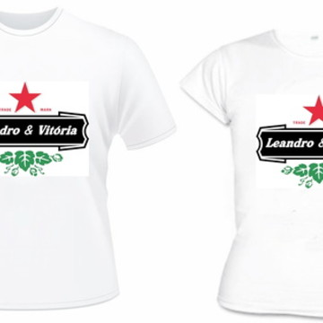 Kit 2 Camiseta Namorados