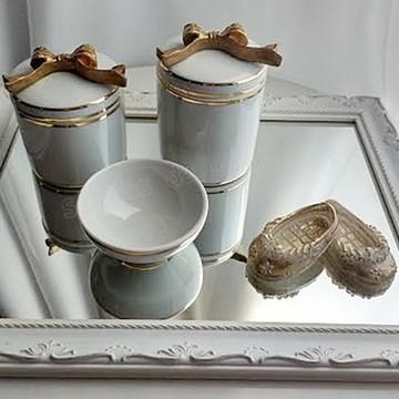 Kit Higiene porcelana laço