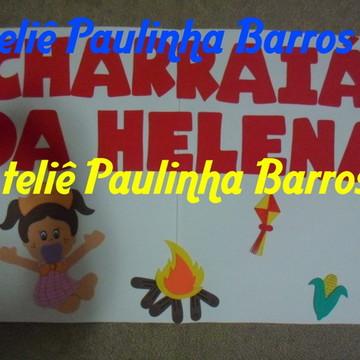 Painel Chá de bebê Festa Junina