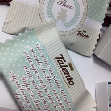 Lembrança nascimento chocolate talento