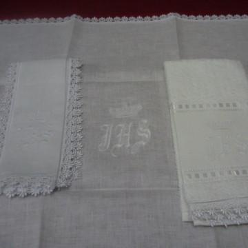 Trio Altar JHS Coroa - branco