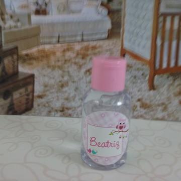 Mini álcool gel corujinha