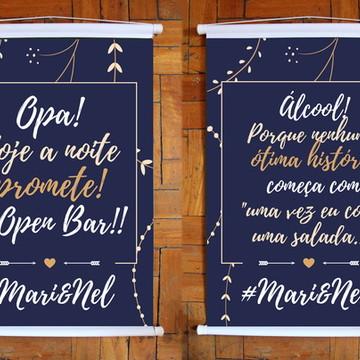 2 Mini Banner Bar - Azul Marinho