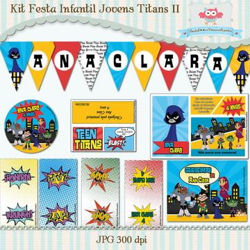 Kit Festa Infantil Jovens Titans II