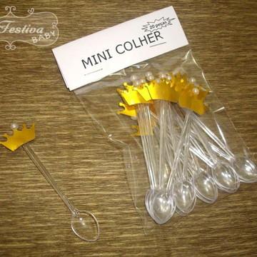 Mini Colher Coroa Dourada