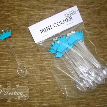 Mini Colher Coroa Azul