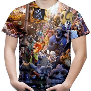 Camiseta Masculina Filme Zootopia