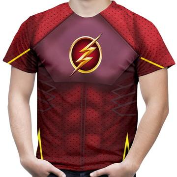 Camiseta Masculina Fantasia Flash