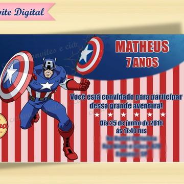 Convite Digital Capitão América
