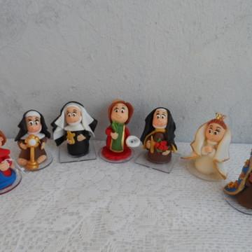 santas em miniatura