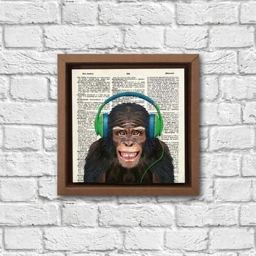 Poster Macaco de fone