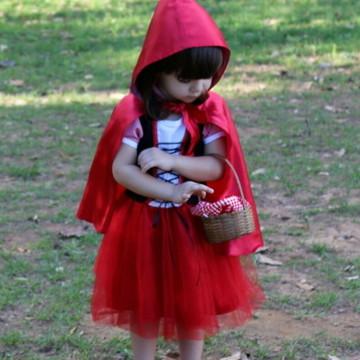 vestido fantasia chapeuzinho vermelho