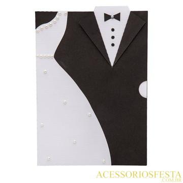 Convite Casamento Noivinhos - AF 1089