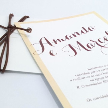 Convite de Casamento Moderno Retrô