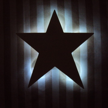 Estrela com led branco frio