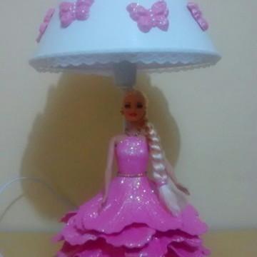 Abajur Grande Barbie em eva