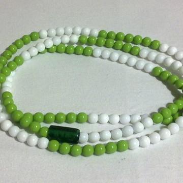 Guia de Porcelana - Verde e Branca