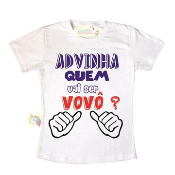 Camiseta advinha quem vai ser vovô