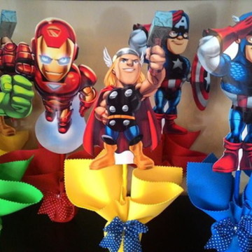 centro de mesa herois vingadores
