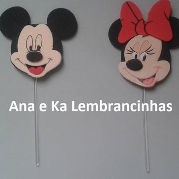 Topper/ Enfeite Palito Mickey ou Minnie
