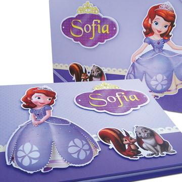 Álbum de fotos argolado Com Caixa Princesa Sofia
