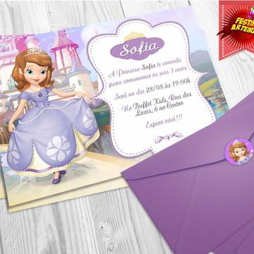 Convite Festa Princesa Sofia