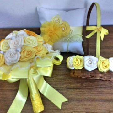 Buque de noiva/kit 3 peças